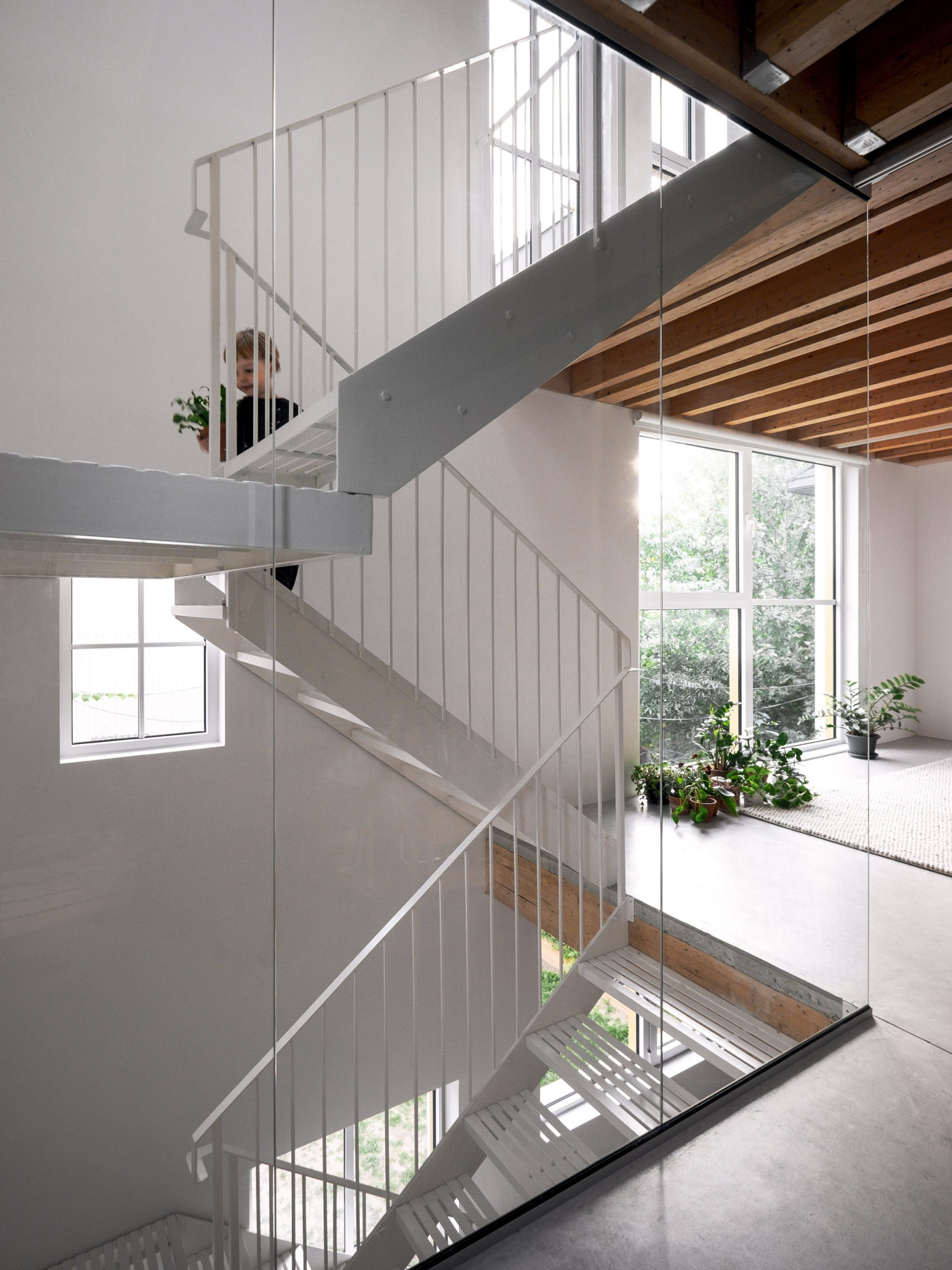 Staircase at NMBDH by Jean Verville in Montreal