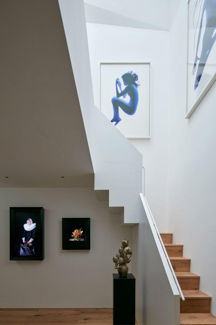 Gallery in London mews house