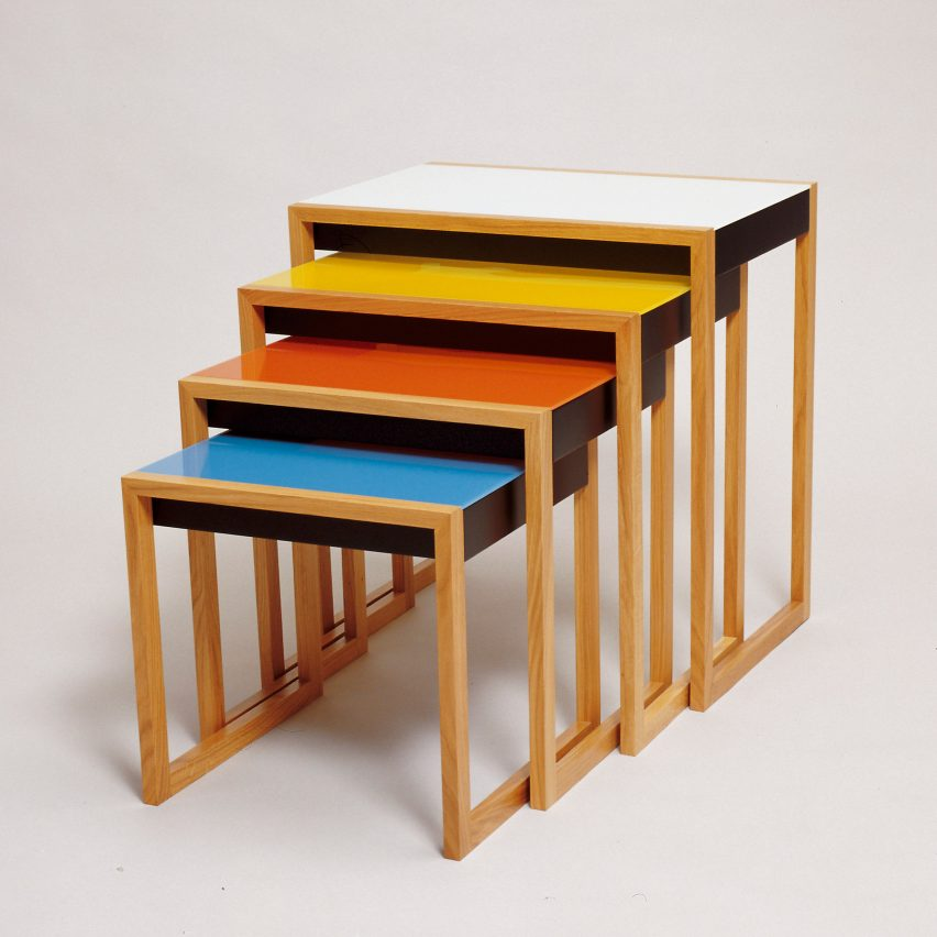 Stacking tables by Josef Albers, around 1927