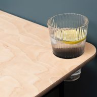 A cup holder of a KIT desk by Spacestor