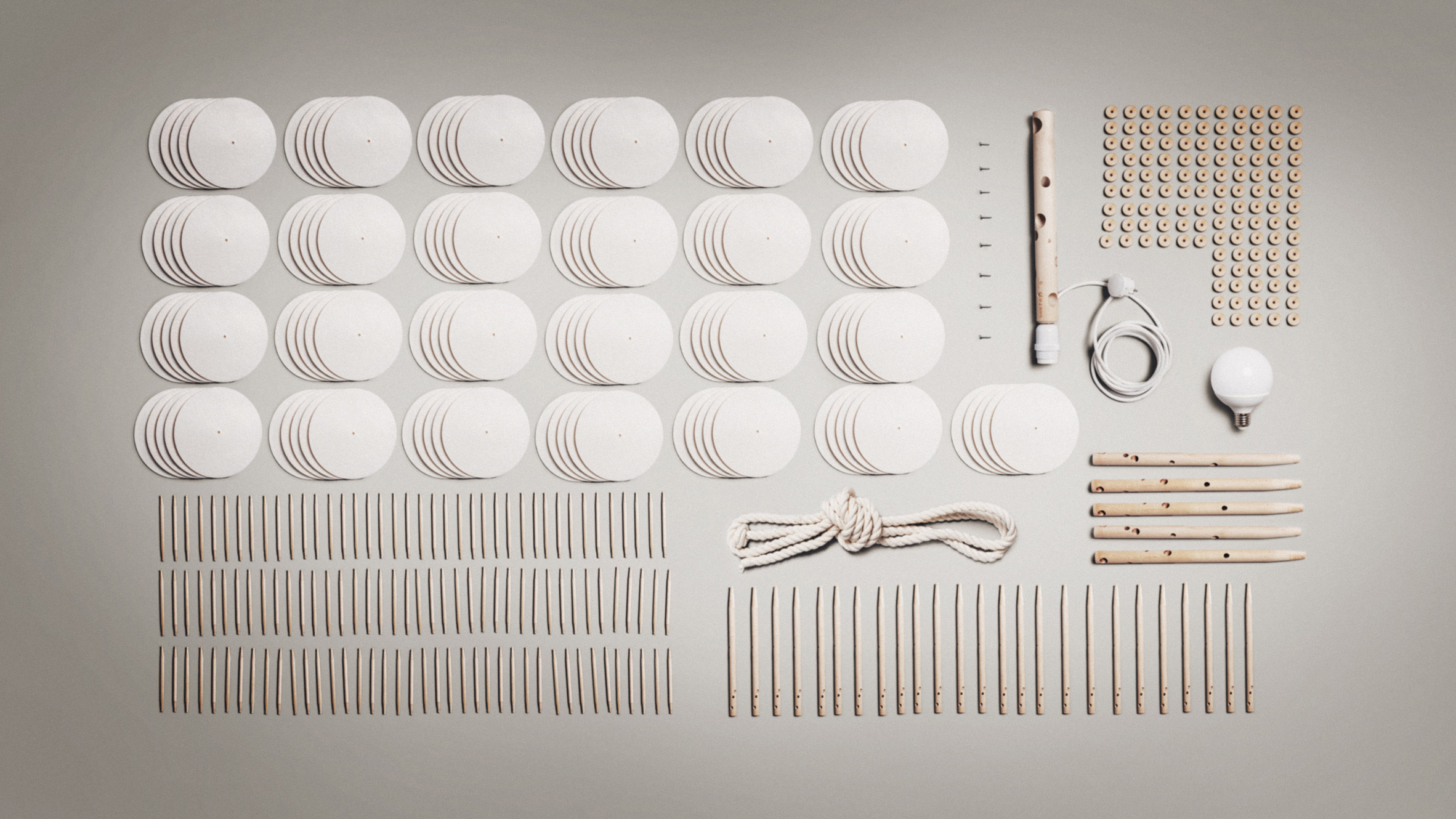 Leaf lamp assembly kit by Green Furniture Concept