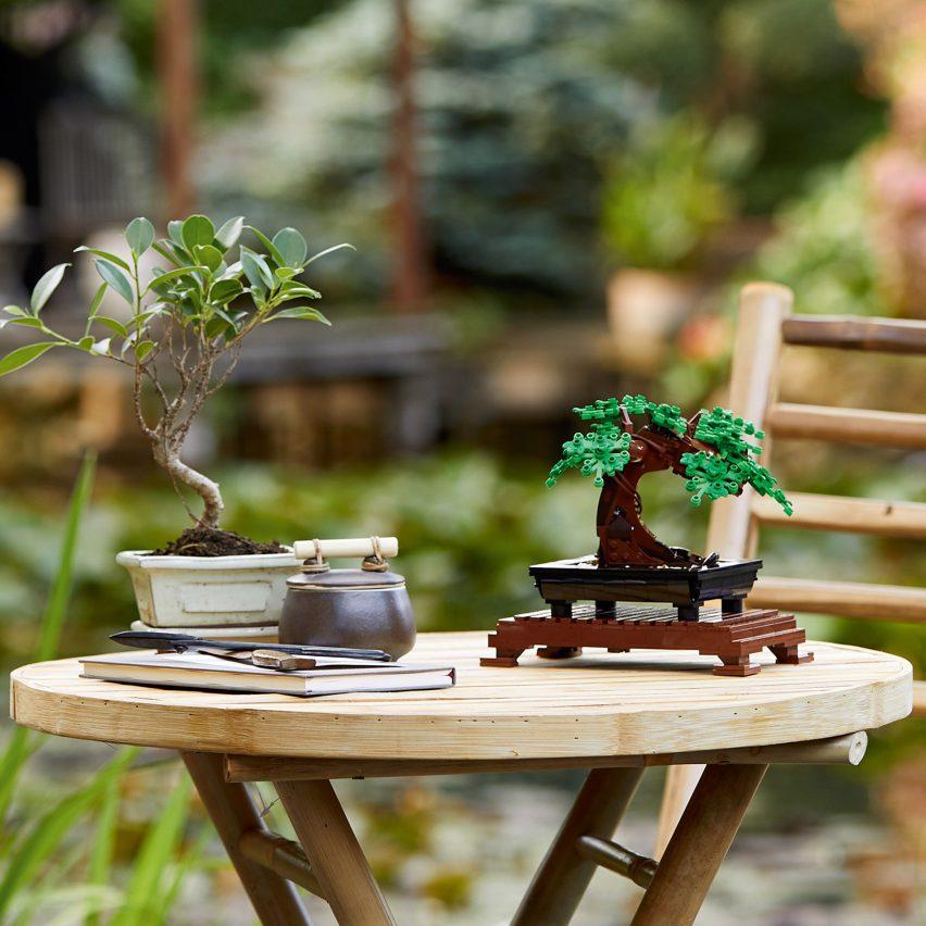 Kit de construcción de modelo de árbol de bonsai de Lego