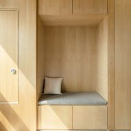 Built-in storage in a LIFE micro-apartment by Ian Lee