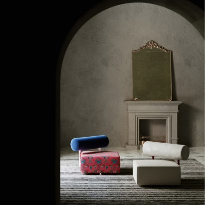 Mélos armchair by Aro Vega for Monogram in a Paris apartment