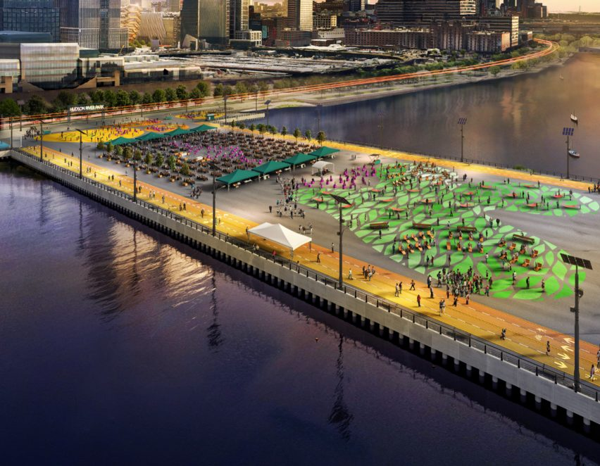 Pier 76 of Manhattan Midtown West 2021 redevelopment