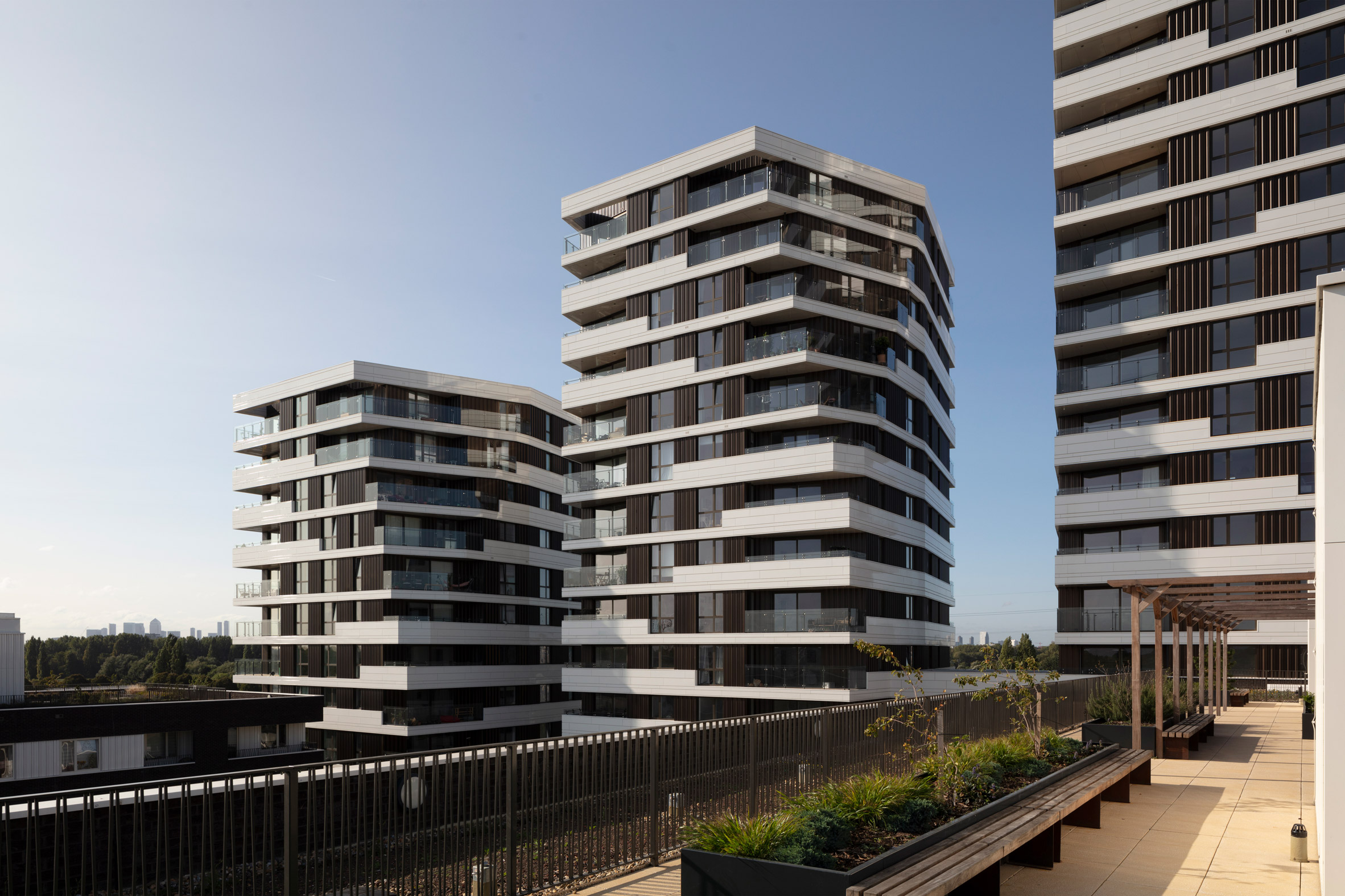 The Motion towers in London by Pollard Thomas Edwards
