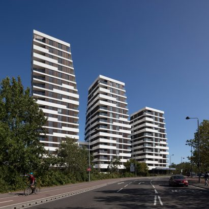 The three Motion towers by Pollard Thomas Edwards