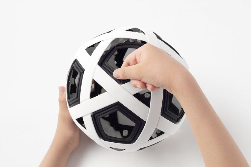 DIY soccer kit by Nendo for Molten