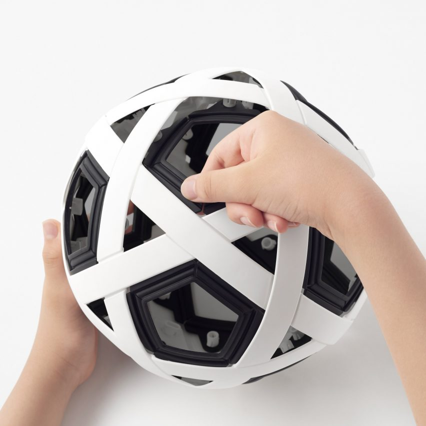 Nendo designs build-your-own football for kids from impoverished communities