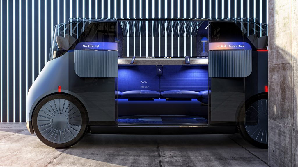 PriestmanGoode models autonomous taxi on London's brutalist architecture