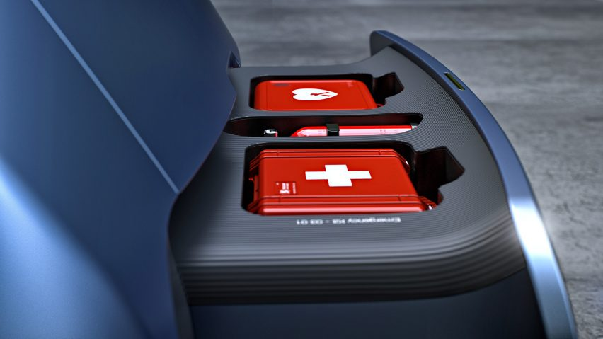 First aid kit of New Car for London by PriestmanGoode