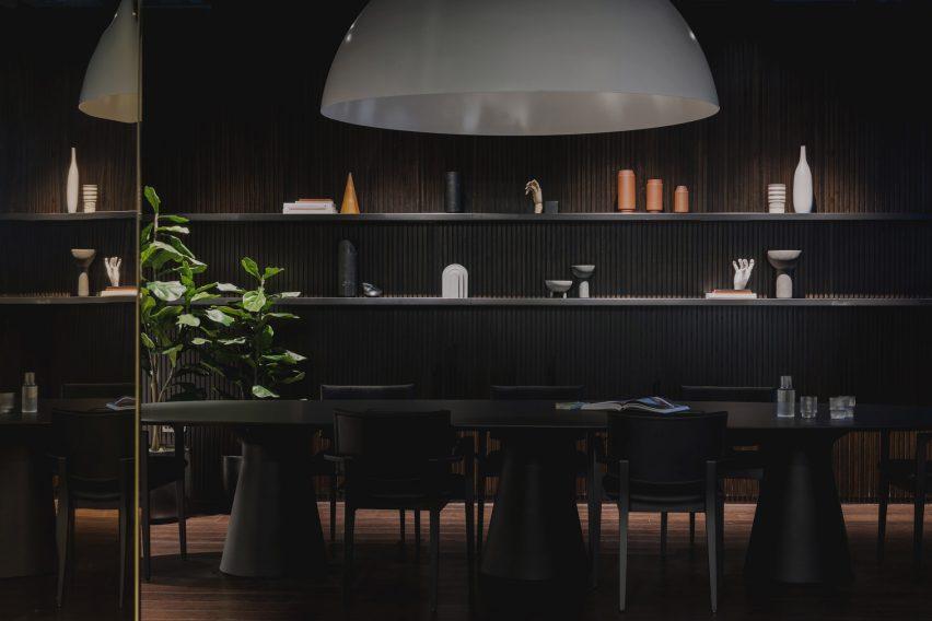 Walnut-clad boardroom from Urban HQ office interior by Kingston Lafferty Design