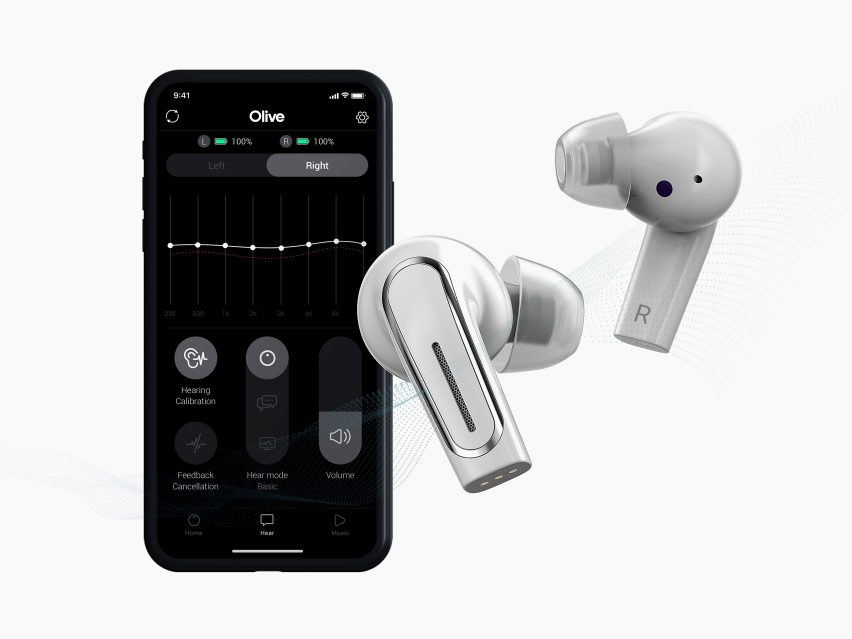 The Olive Pro earbuds and app by Olive Union