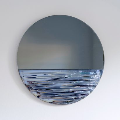 Orizon mirror by Ocrum Studio in moonlight blue
