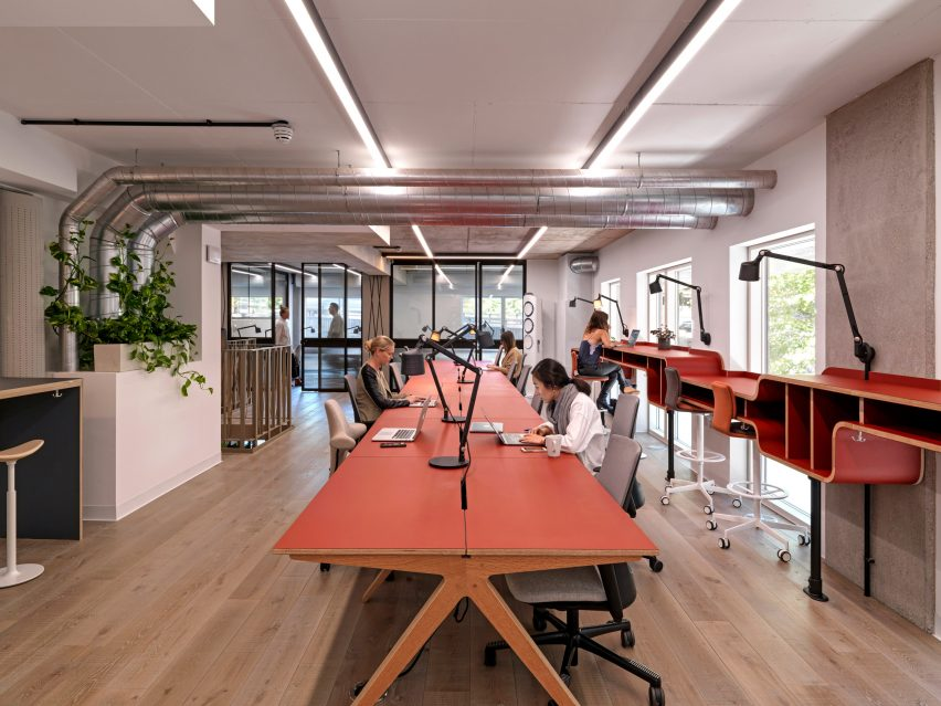 Co-working space in Paddington Works by Threefold Architects