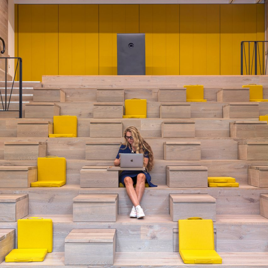 Auditorium in Paddington Works by Threefold Architects