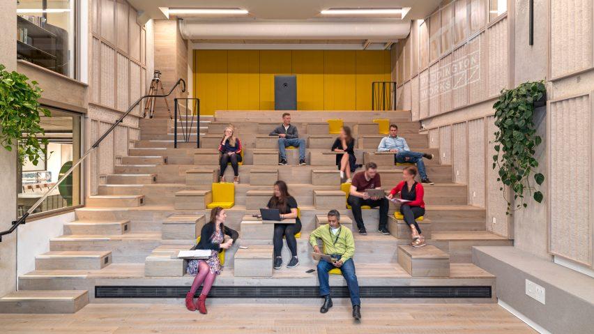 Flexible auditorium in Paddington Works by Threefold Architects