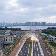 Haikou Wenming East Road Tunnelin Haikou City