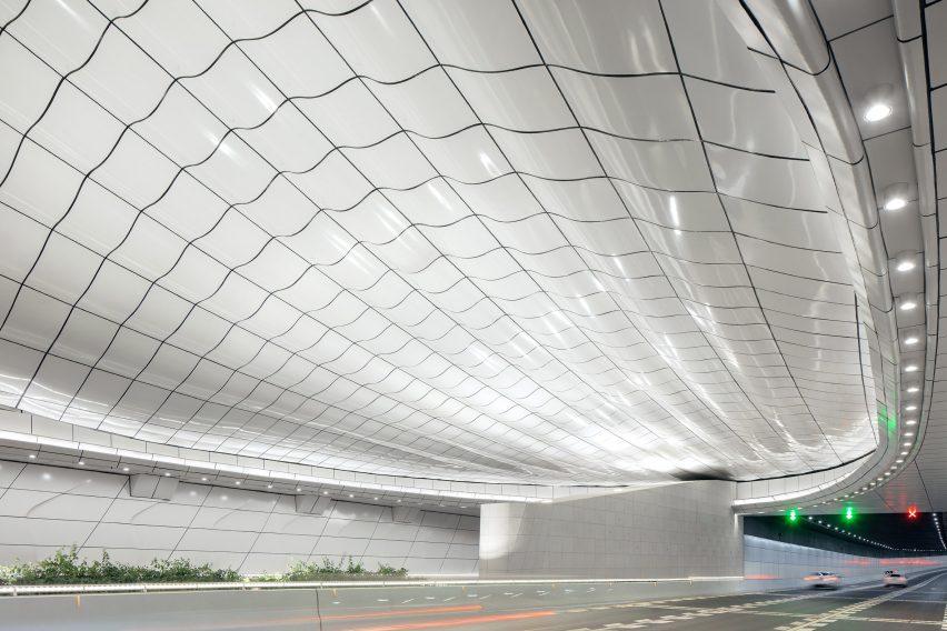 Haikou Wenming East Road Tunnel was informed by seashells