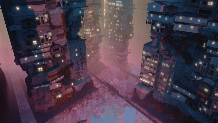 Streetscape in Planet City by Liam Young