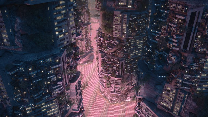 Visualisation of Planet City by Liam Young