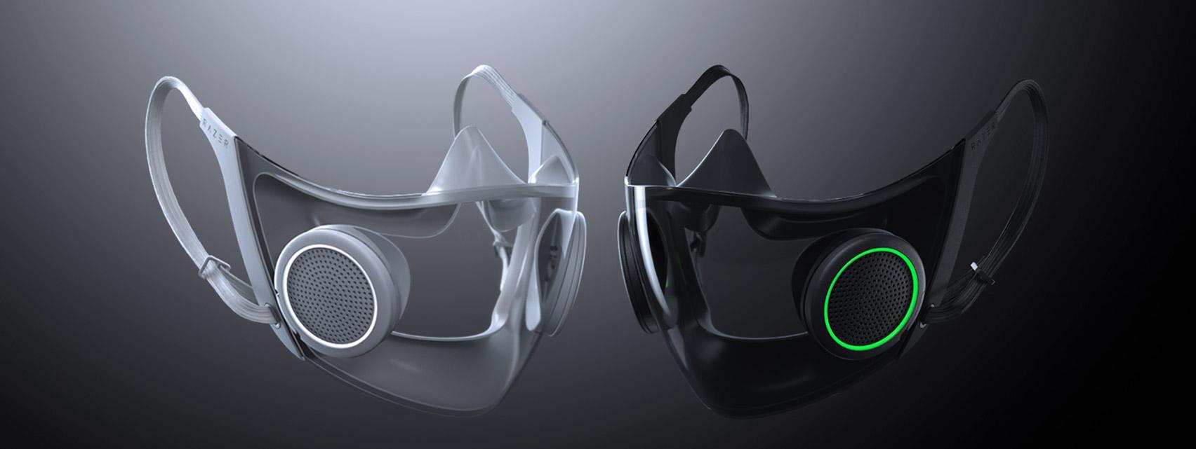 Razer's concept mask in black and white
