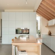 The kitchen of Quarter Glass House by Proctor & Shaw