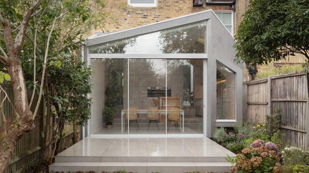 Quarter Glass House is an angular extension to an Edwardian terrace