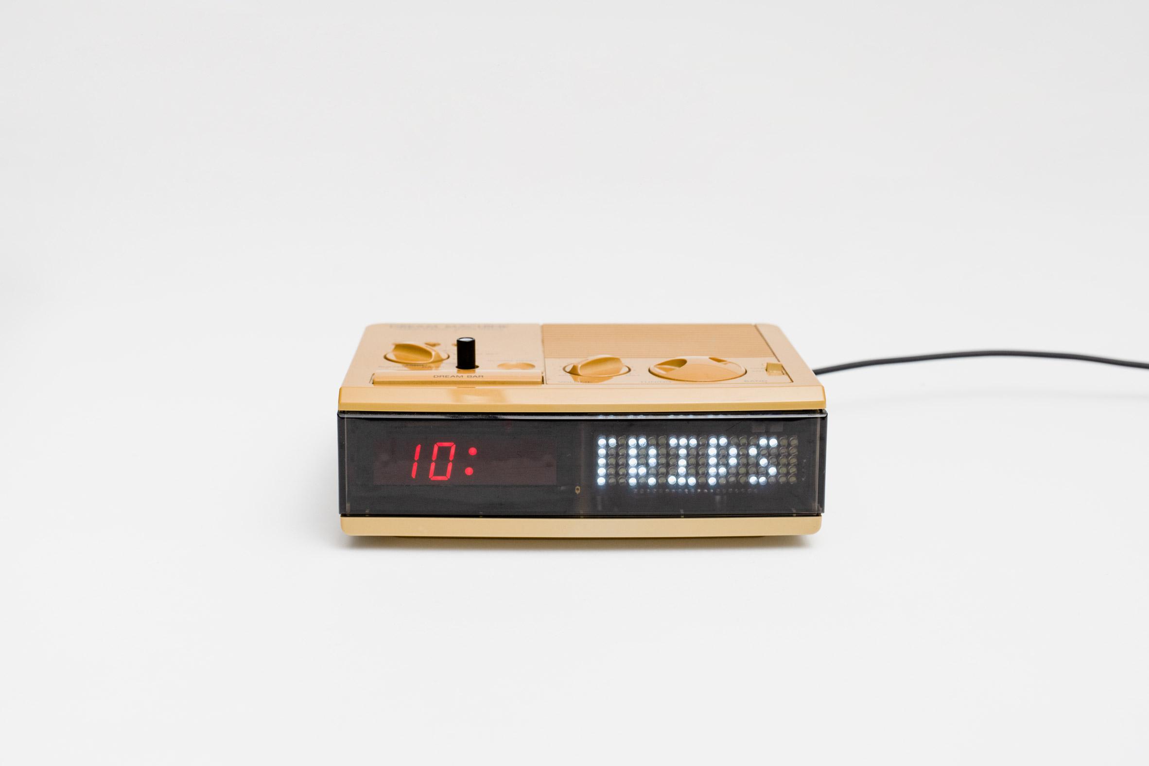 Repaired clock radio at R for Repair exhibition in Singapore