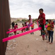 This week a pink seesaw installation on the US-Mexico border was named Design of the Year