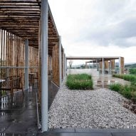 The roof garden of the (Re)forming Duichuan Tea Yards centre by O-office Architects
