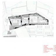The ground floor plan for (Re)forming Duichuan Tea Yards centre by O-office Architects