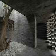 Inside the podium of the (Re)forming Duichuan Tea Yards centre by O-office Architects