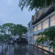 The exterior of the (Re)forming Duichuan Tea Yards centre by O-office Architects
