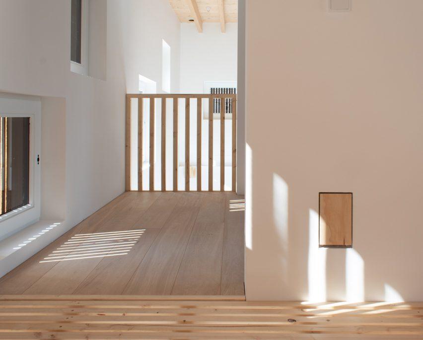 Windows inside Rhythm House by Julius Taminiau Architects