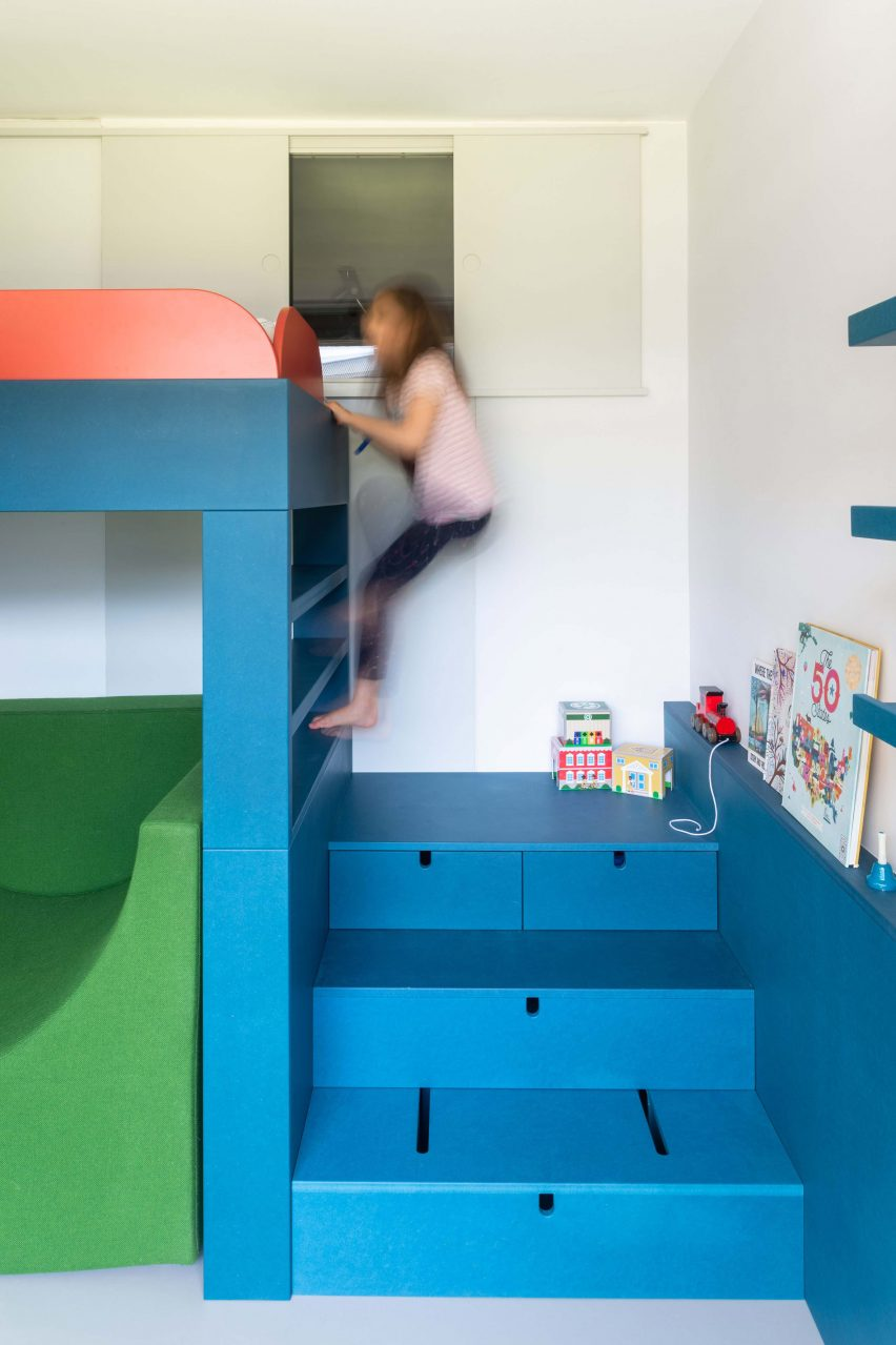 Colourful bunk bed