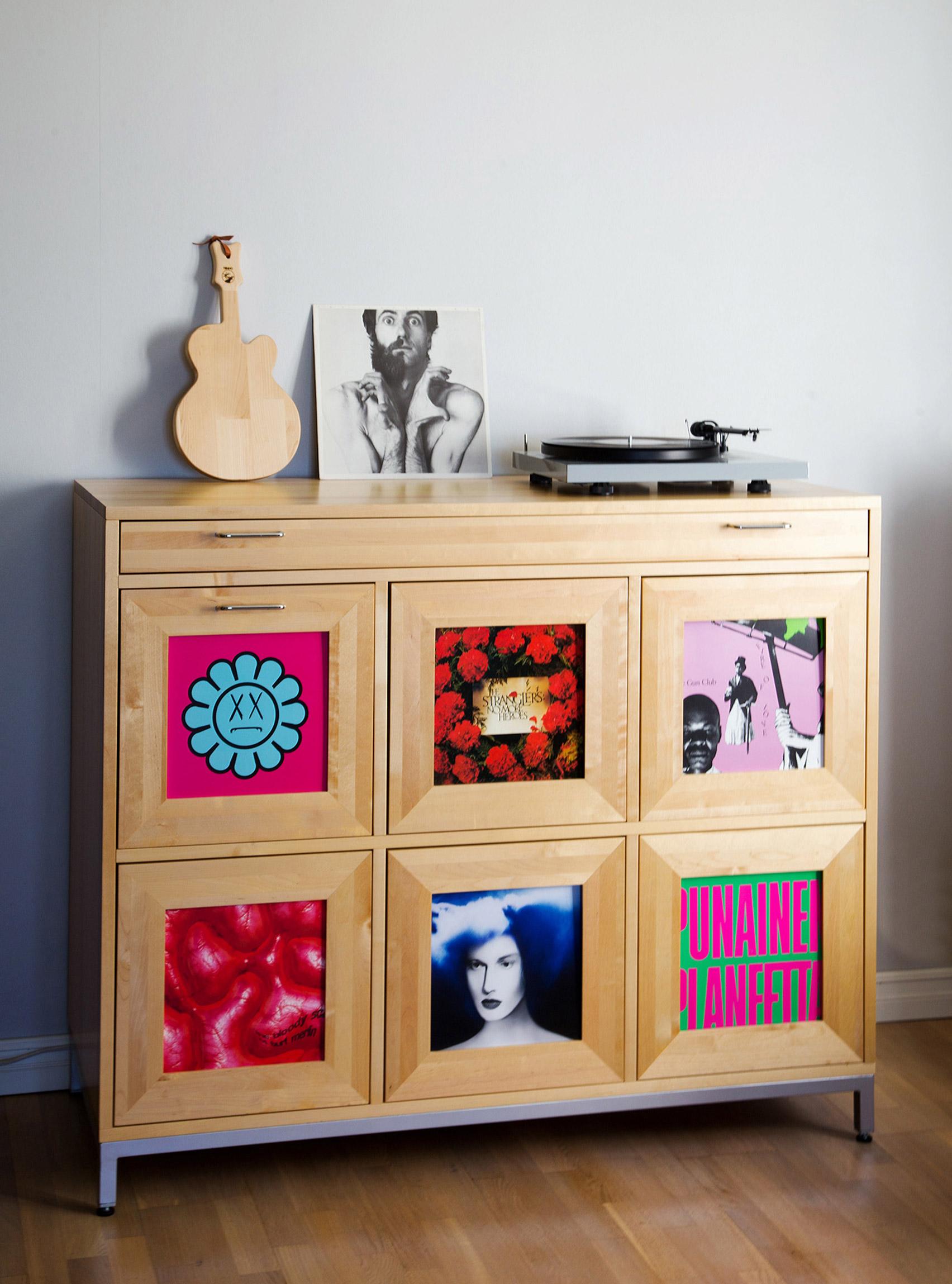 Saana vinyl record cabinet by Tenho Design