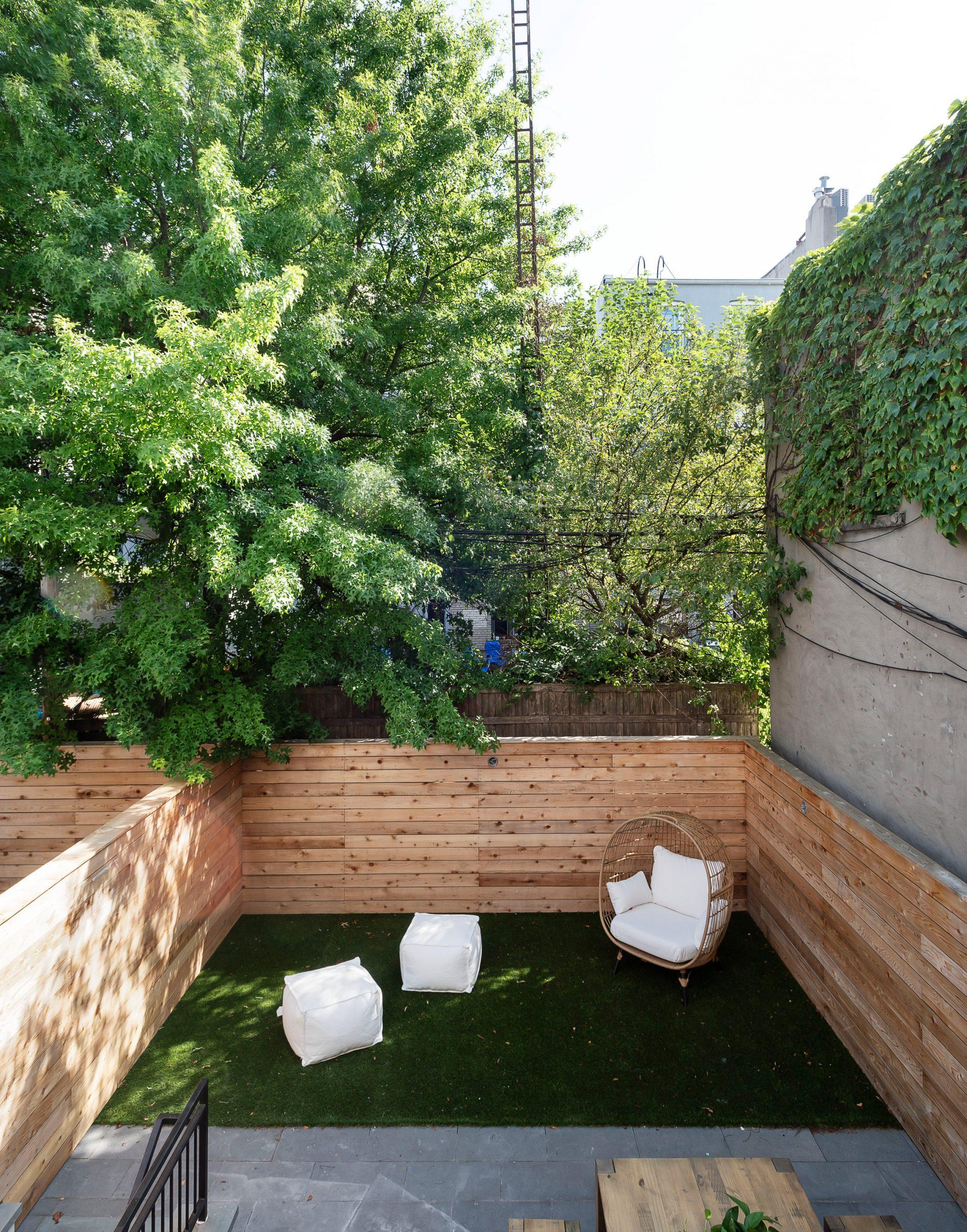 The Sackett Street townhouse intimate back garden