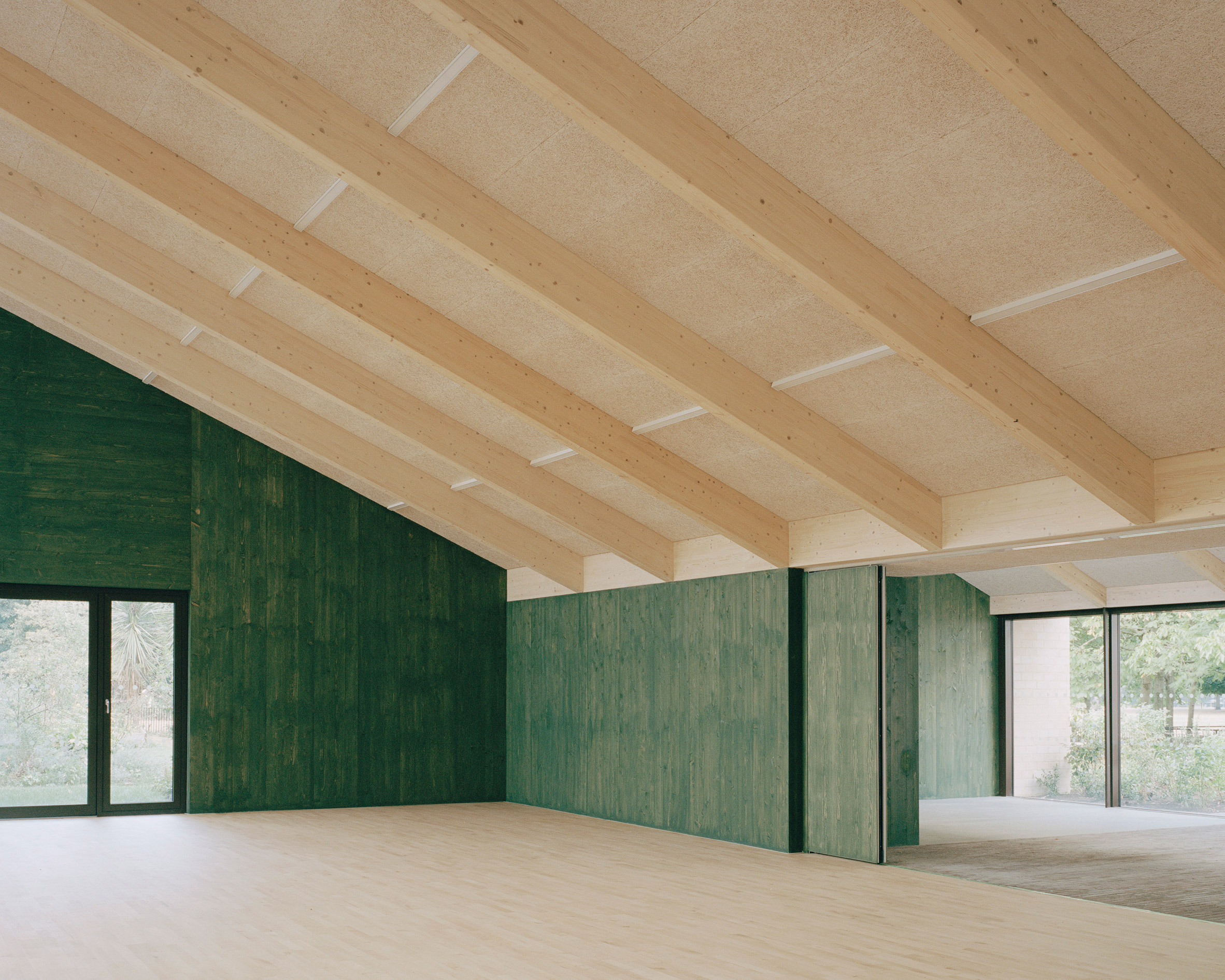 Hall inside Sands End Arts and Community Centre by Mae Architects