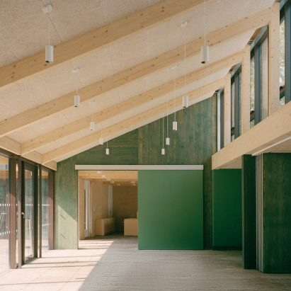 Interior of Sands End Arts and Community Centre by Mae Architects