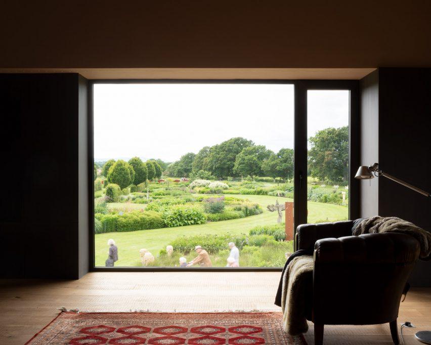 Garden views from living room