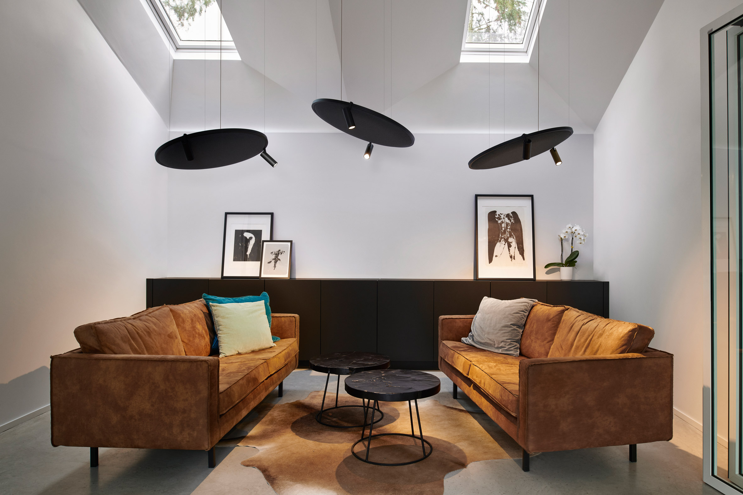 Lighting and sound system in a home space