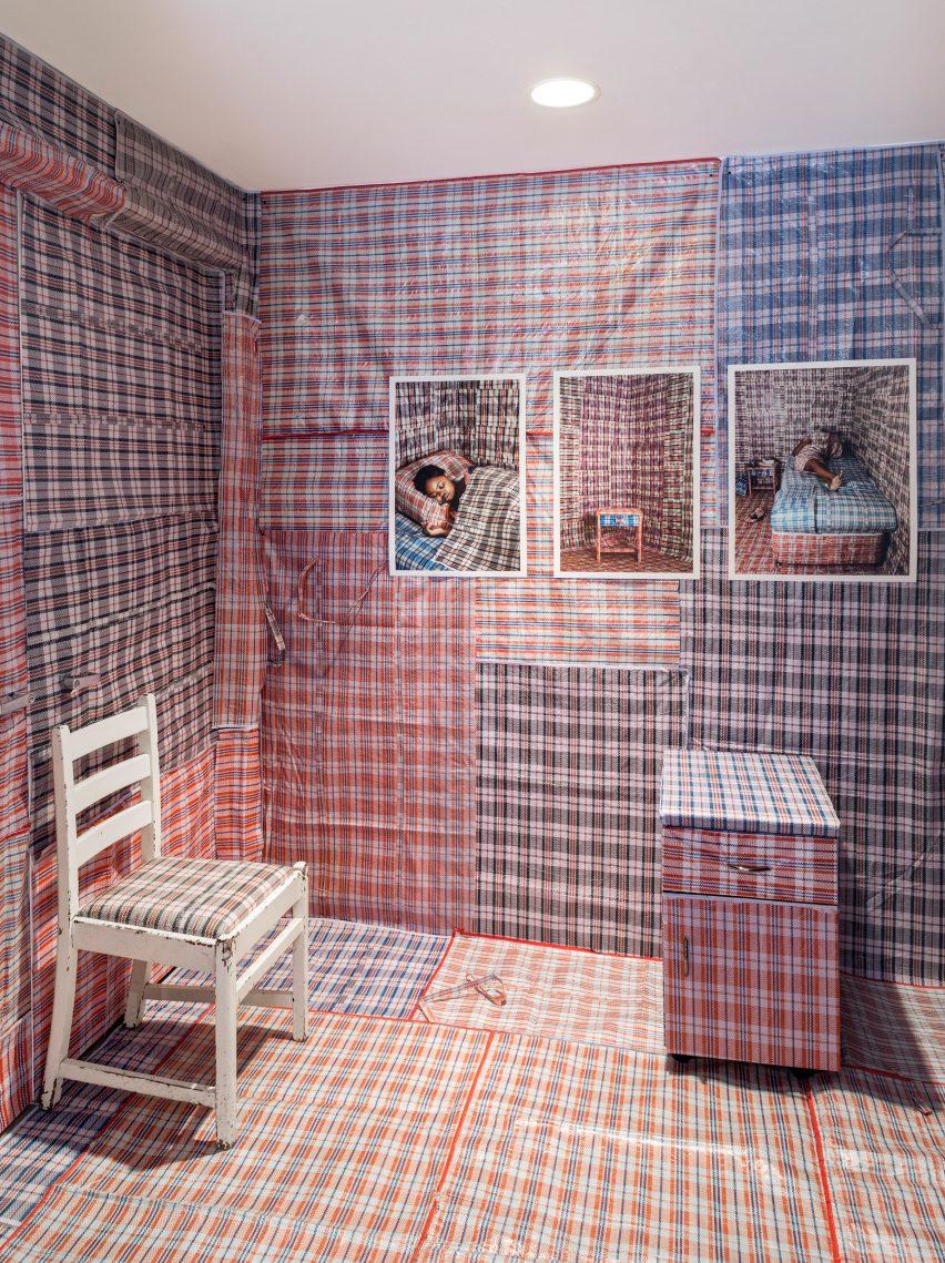 Umaskhenkethe installation by Nobukho Nqaba from Split Personality exhibition at Friedman Benda