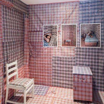 Nobukho Nqaba installation at Friedman Benda's Split Personality exhibition