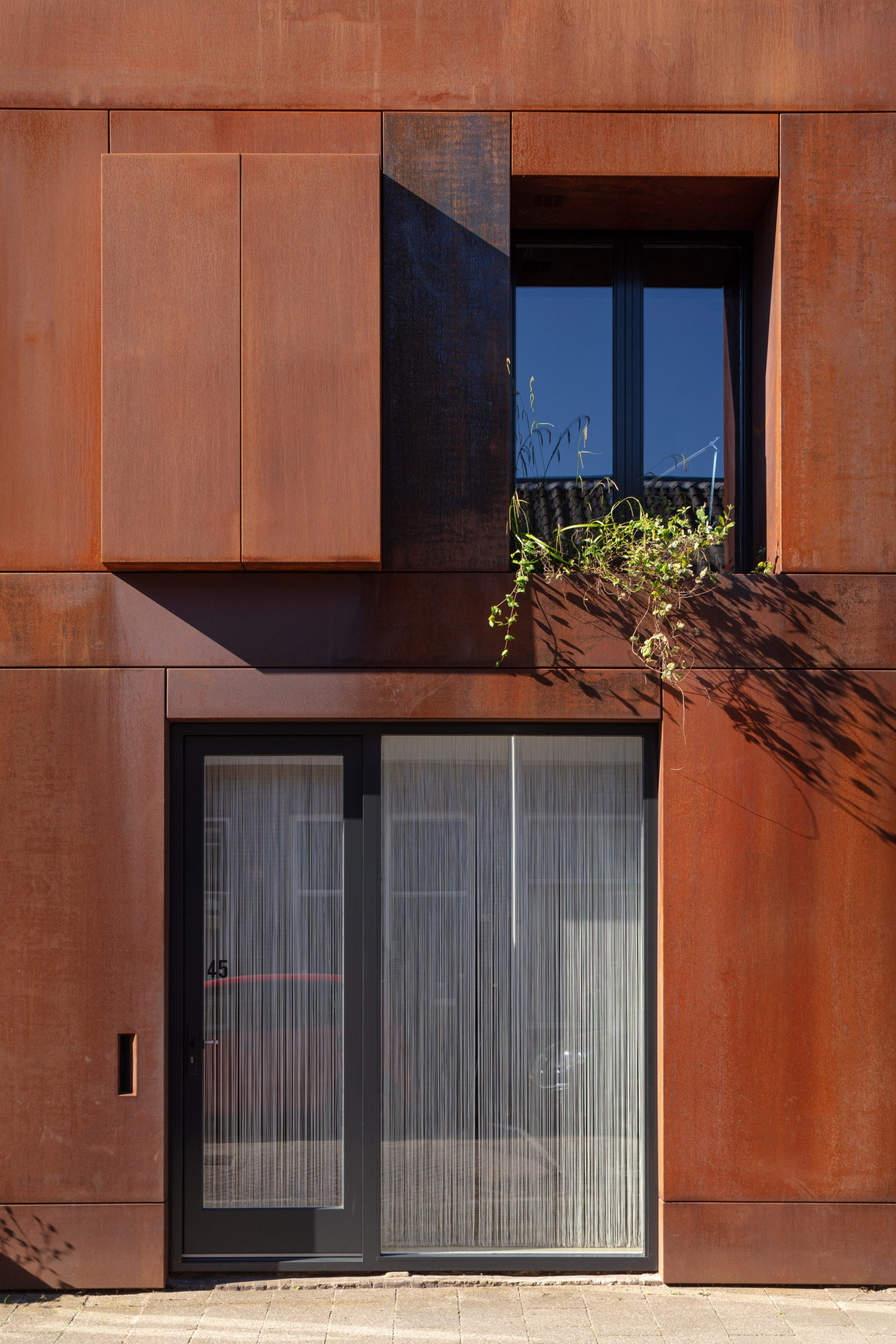 Front door of Zecc Architecten house