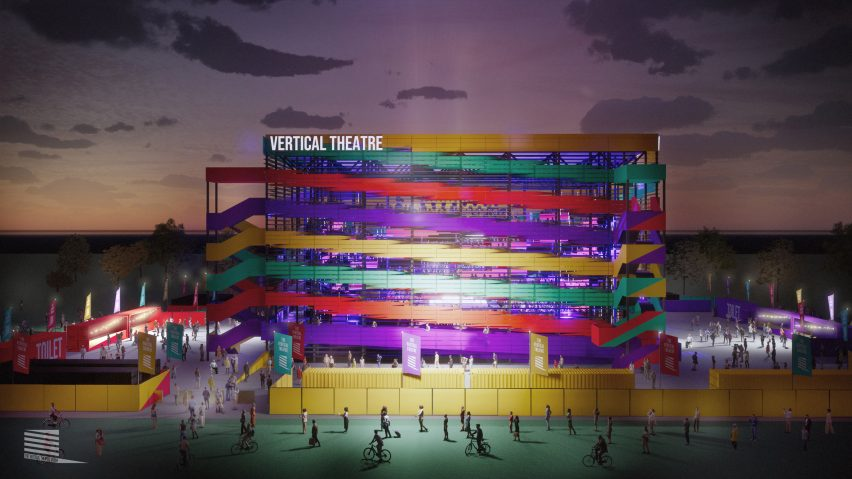 Socially distanced Vertical Theatre by Stufish