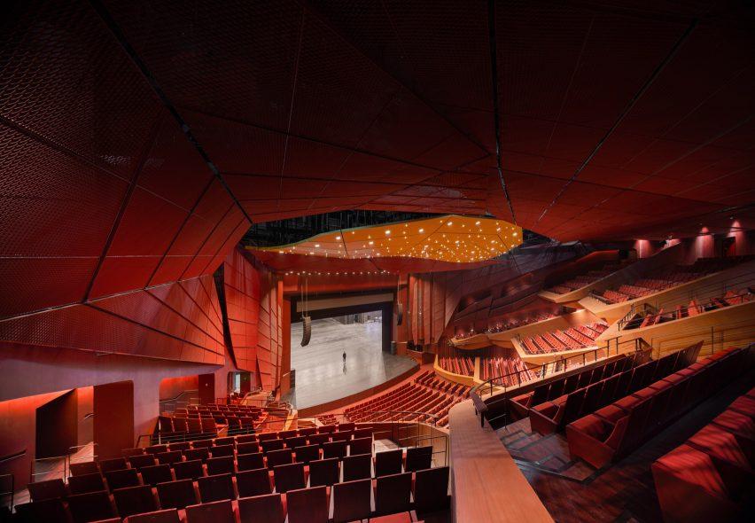 The theatre in the Suzhou Bay Cultural Center by Christian de Portzamparc