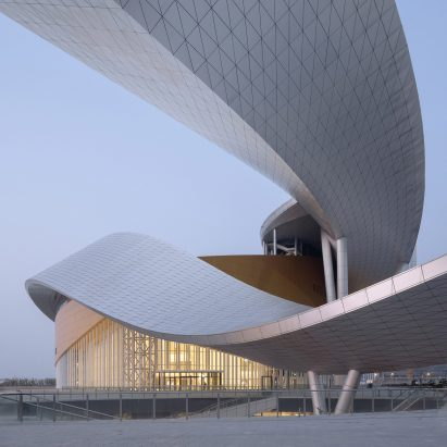 The sweeping ribbon that enfolds Suzhou Bay Cultural Center by Christian de Portzamparc