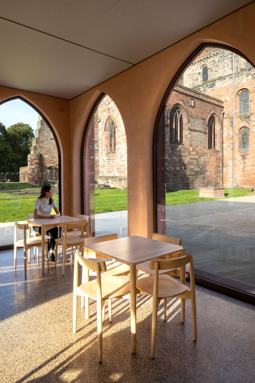 Inside the cafe of The Fratry at Carlisle Cathedral by Feilden Fowles