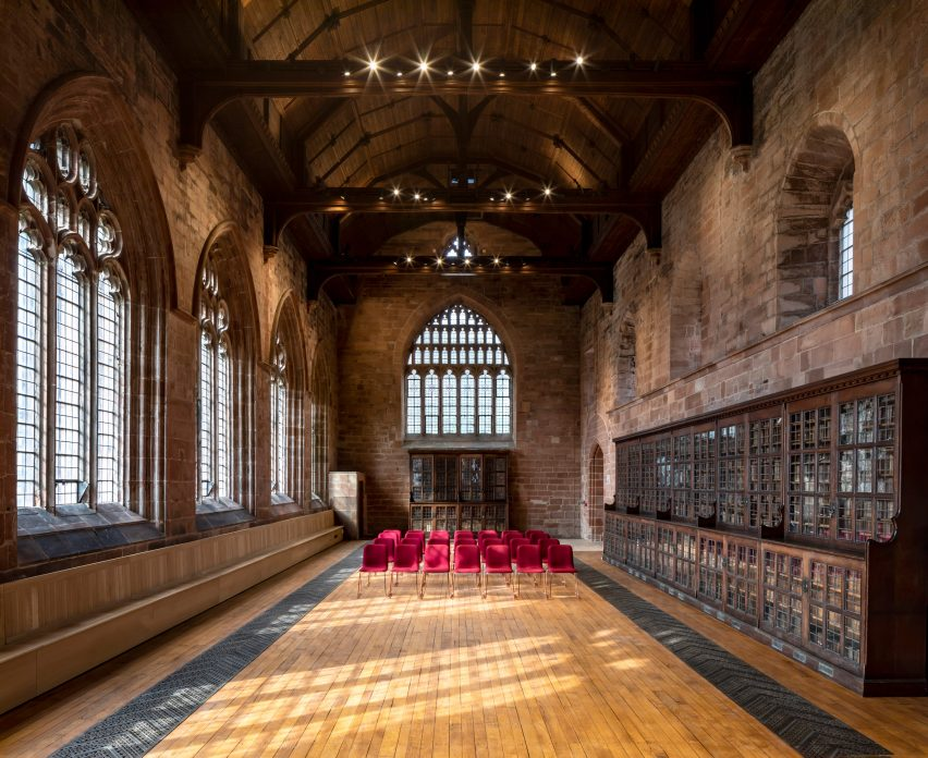 The events space in The Fratry at Carlisle Cathedral by Feilden Fowles